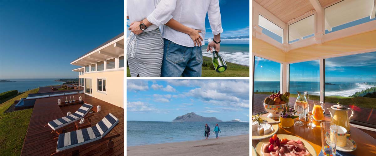 Best boutique retreats for couples in Hawkes Bay, with breathtaking sea view and sumptuous breakfast included