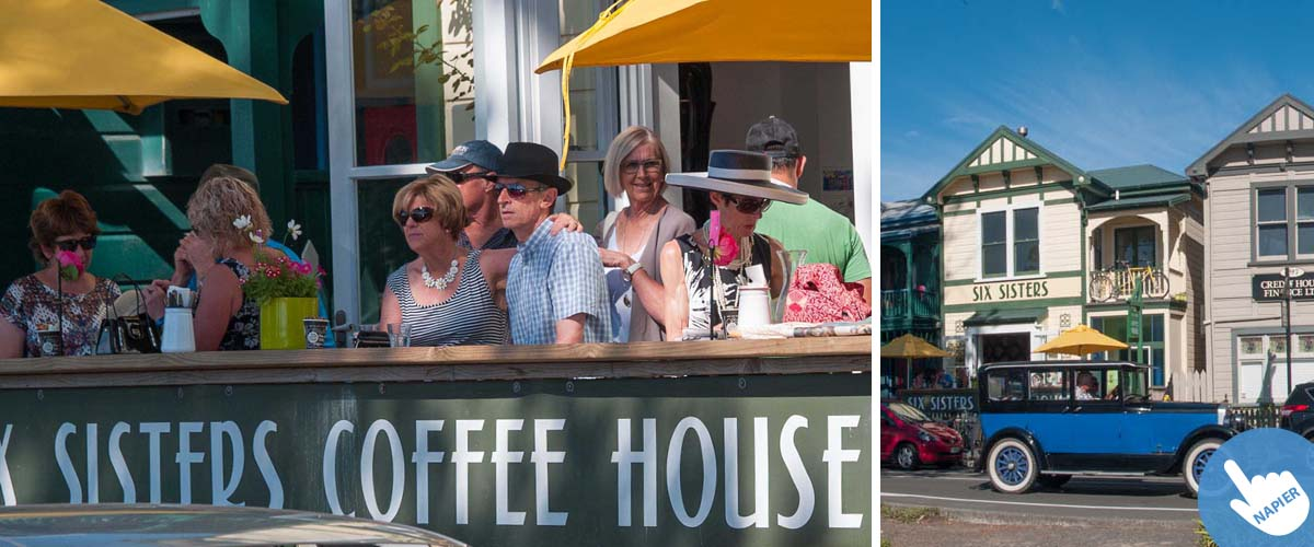 Coffee house in Napier, nice place for lunch, near 5 star boutique hotel by the sea