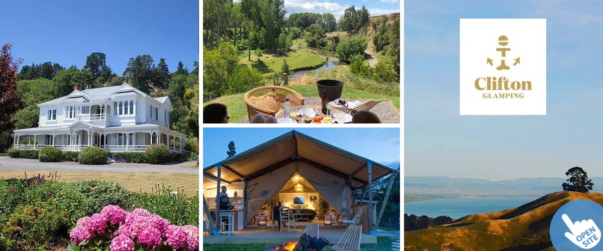 special coastal place for glamping, clifton cape kidnappers, close to boutique seaside lodge