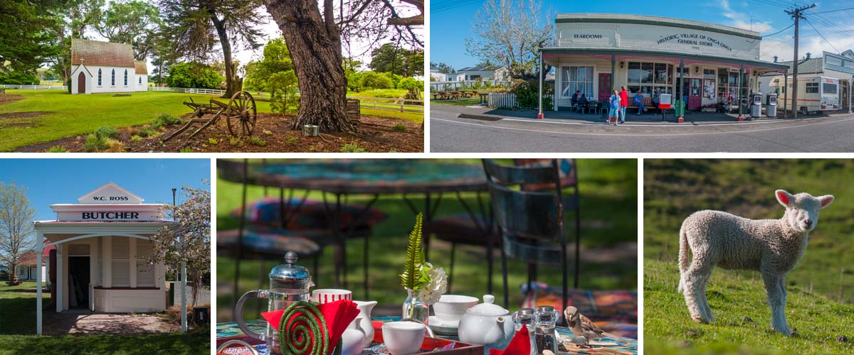 The countryside of Hawkes Bay,romantic wedding chapels in beautiful landscape, old pioneer villages Onga Onga, country garden coffee shops Birdwoods