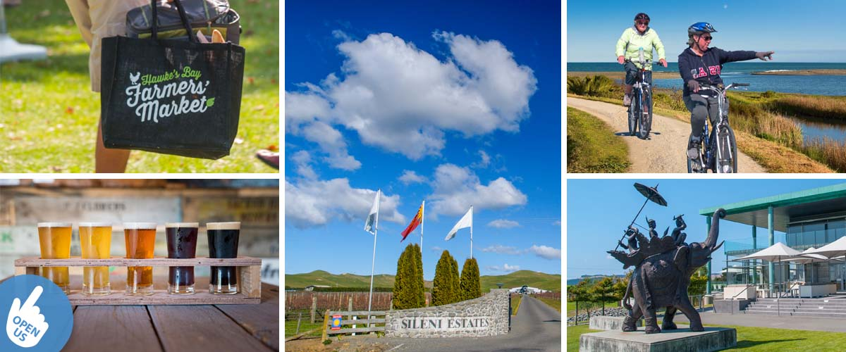 Discover the Hawkes Bay wines, taste the craft beers, the farmer markets, cycling along the beach and dine in a winery restaurant