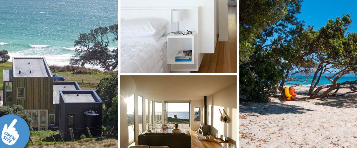 tama beach house in Coromandel, absolutely beachfront, one of the great boutiqe lodges at the east coast