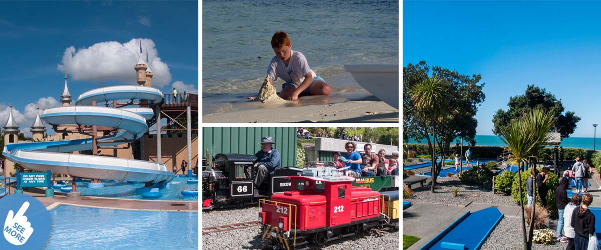 Stay in a luxury retreat in Hawkes Bay with lots of family friendly outdoor attractions like Splash Planet, mini golf, model railway