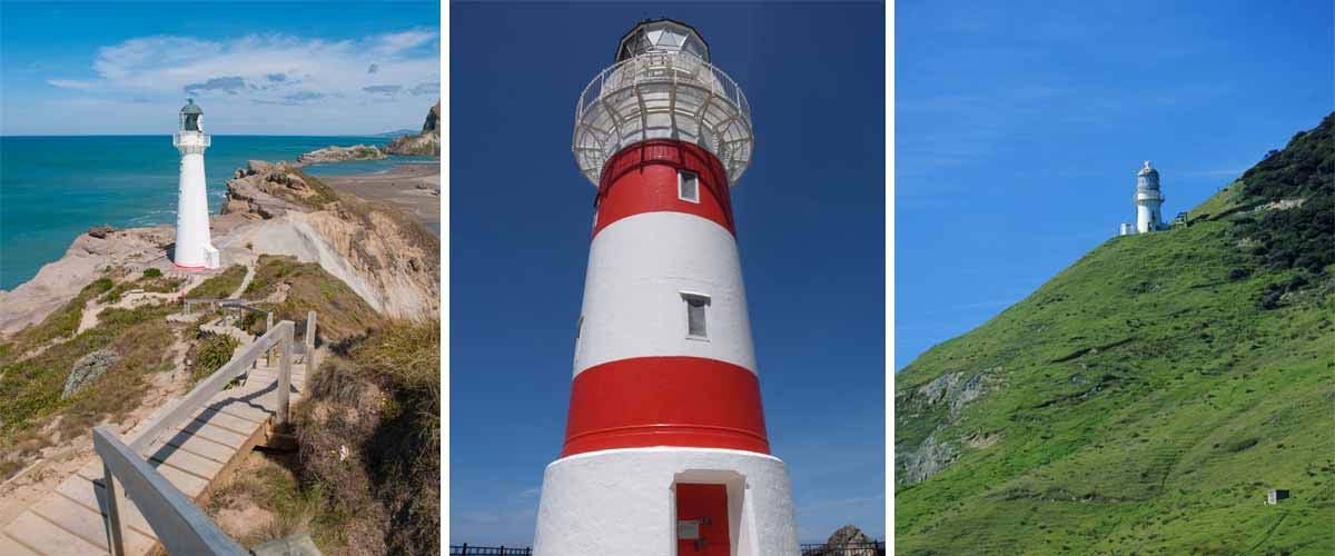 Great tips for North Island New Zealand, for all lighhouse lovers, visit Castle Point, Cape Palliser and Cape Reinga in the far North