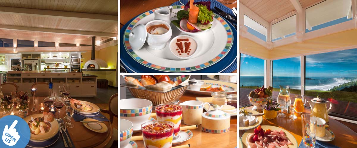 luxury accommodation with private chef, healthy breakfast, gourmet dinner and stunning sea view from your dining table