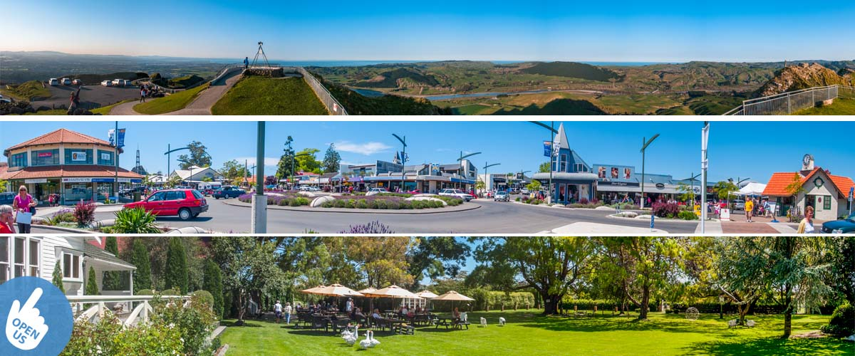Havelock North a nice village for a weekend getaway, stay in an boutique accommodation with oceanview and close to the beach