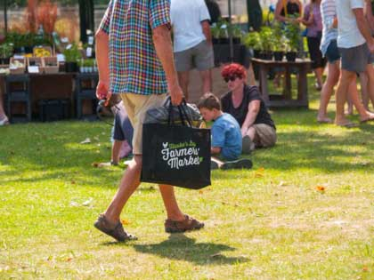 The best Farmer Market on the North Island is in Hastings Hawkes Bay. Great atmosphere, good music and food and great choices.